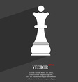 Chess Queen symbol Flat modern web design with vector image