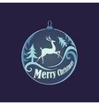 Christmas and New year logo emblem vector image