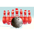 christmas holiday bowling background vector image