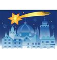 Christmas town bethlehem star vector image vector image