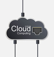 Cloud computing concept Technology background vector image vector image