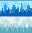 comic city horizontal banners vector image vector image