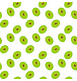 cut of the sweet ripe tasty and fragrant kiwi vector image vector image