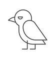 cute crow bird icon halloween character editable vector image