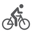 cycling glyph icon sport and bike man on bicycle vector image vector image