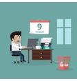 Deadline Design Concept Flat Interior Man vector image vector image