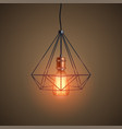 decorative edison light bulb wire vector image vector image