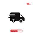 delivery truck icon cargo van symbol vector image vector image