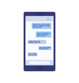 display smartphone with message chat vector image