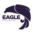 eagle bird or fantasy logo template for security vector image vector image