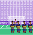 Ecuador Soccer Club Penalty on a Stadium vector image