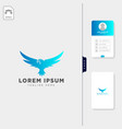 falcon flying bird logo template free business vector image vector image