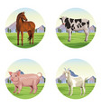 farm animals cartoons vector image vector image