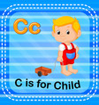 flashcard letter c is for child vector image vector image