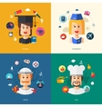 flat design business with people professions vector image