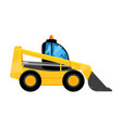 front end yellow loader construct machines digger vector image vector image