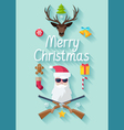 Funny Christmas poster vector image vector image