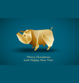 golden big pig as a symbol chinese new year vector image vector image