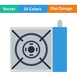 Icon of camping gas burner stove vector image vector image