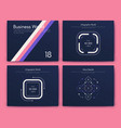infographic brochure elements for business vector image