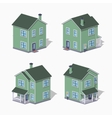 Low poly suburban house vector image