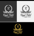 luxurious royal logo vector image vector image