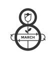 march womens day icon black vector image vector image