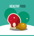 meat and chicken leg healthy food vector image vector image