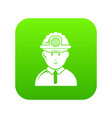 miner icon green vector image vector image