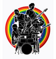musician playing music together music band graphi vector image vector image