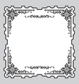 ornament frame vector image