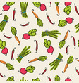 pattern of vegetables of beets carrots and pepper vector image