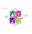 people chatting social media online together vector image