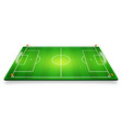 perspective of football field soccer field eps 10 vector image vector image
