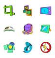 photo studio icons set cartoon style vector image vector image