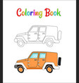 safari wrangler coloring pages for kids vector image vector image