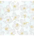 seamless texture jasmine flowers with twigs vector image vector image