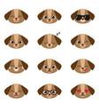 set of happy puppies emojis vector image vector image