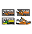 sneakers logotypes vector image vector image