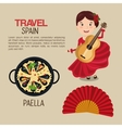 Spanish culture icons isolated icon design vector image vector image