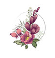 spring flowers bouquet of flowers bud garland vector image