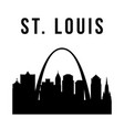 stlouis city simple silhouette vector image vector image