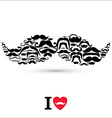 Stock Moustaches set Design elements vector image