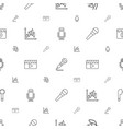 studio icons pattern seamless white background vector image vector image