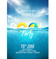 summer pool party poster template vector image vector image