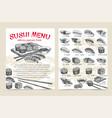 sushi bar munu vector image vector image