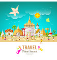 thailand travel building and landmark vector image vector image