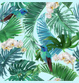 tropical emerald pattern vector image vector image