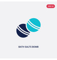 two color bath salts bomb icon from beauty vector image