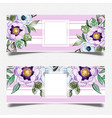 watercolor floral banner template vector image